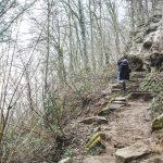 Steile und halsbrecherisch Treppen sorgen für genügend Abenteuerspaß
