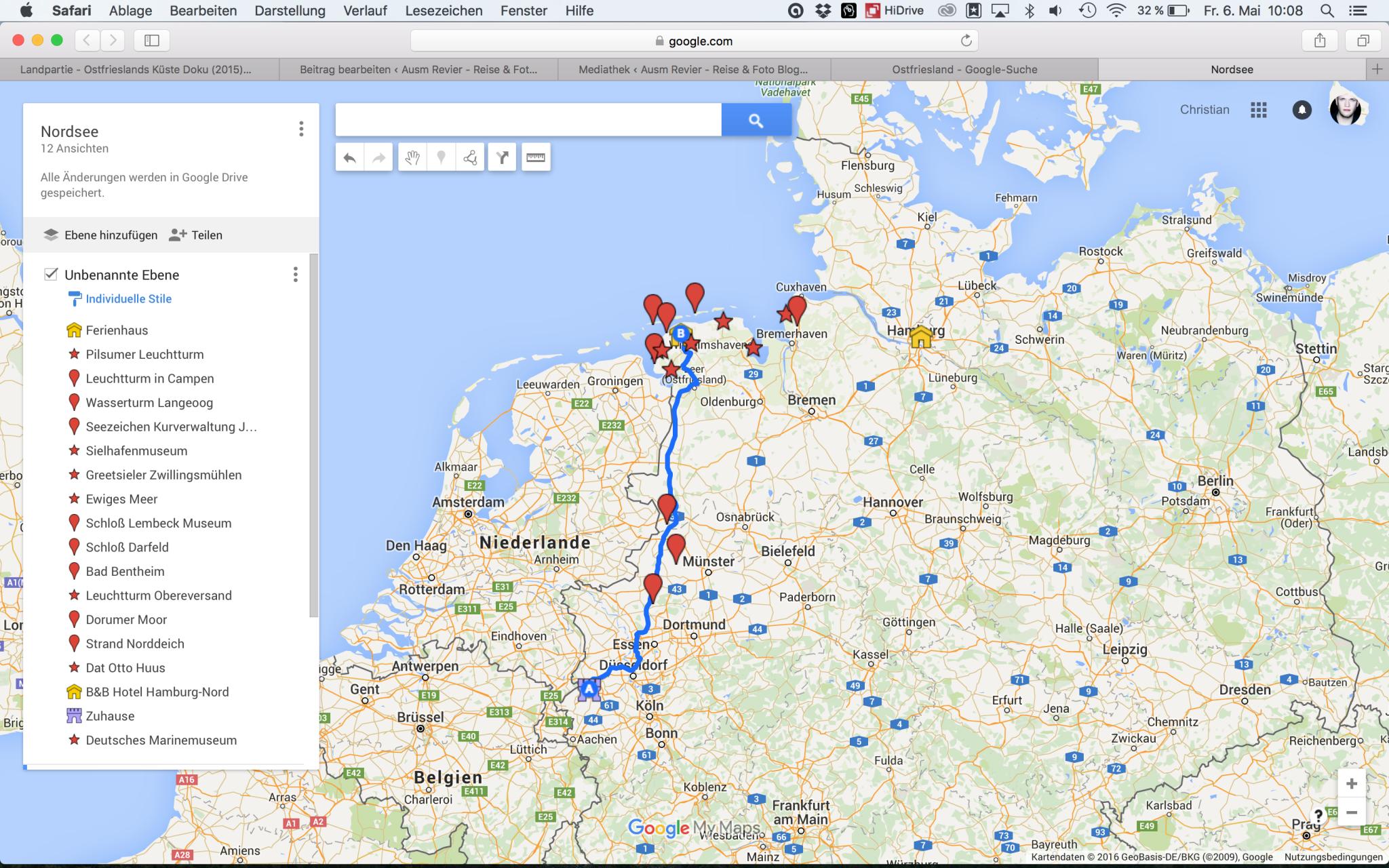 Eigene Karten mit Google Maps