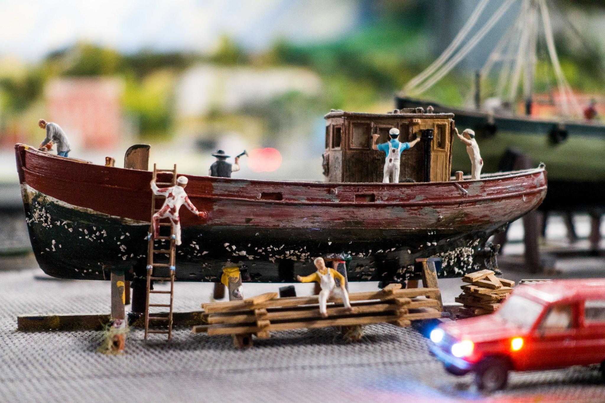Ständig wird am Miniatur Wunderland Hamburg gearbeitet
