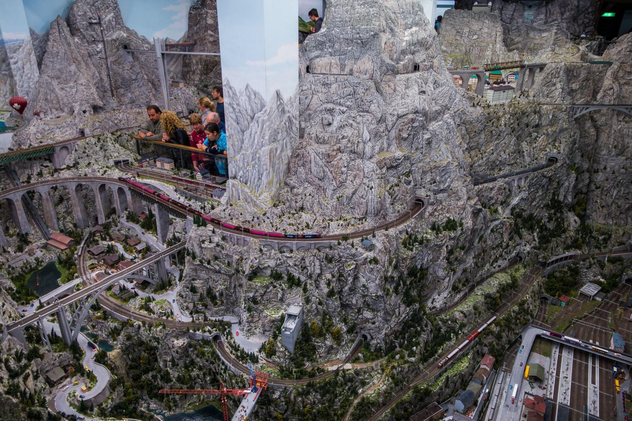 Die Schweiz begeistert auch in Miniformat mit ihren riesen Bergen
