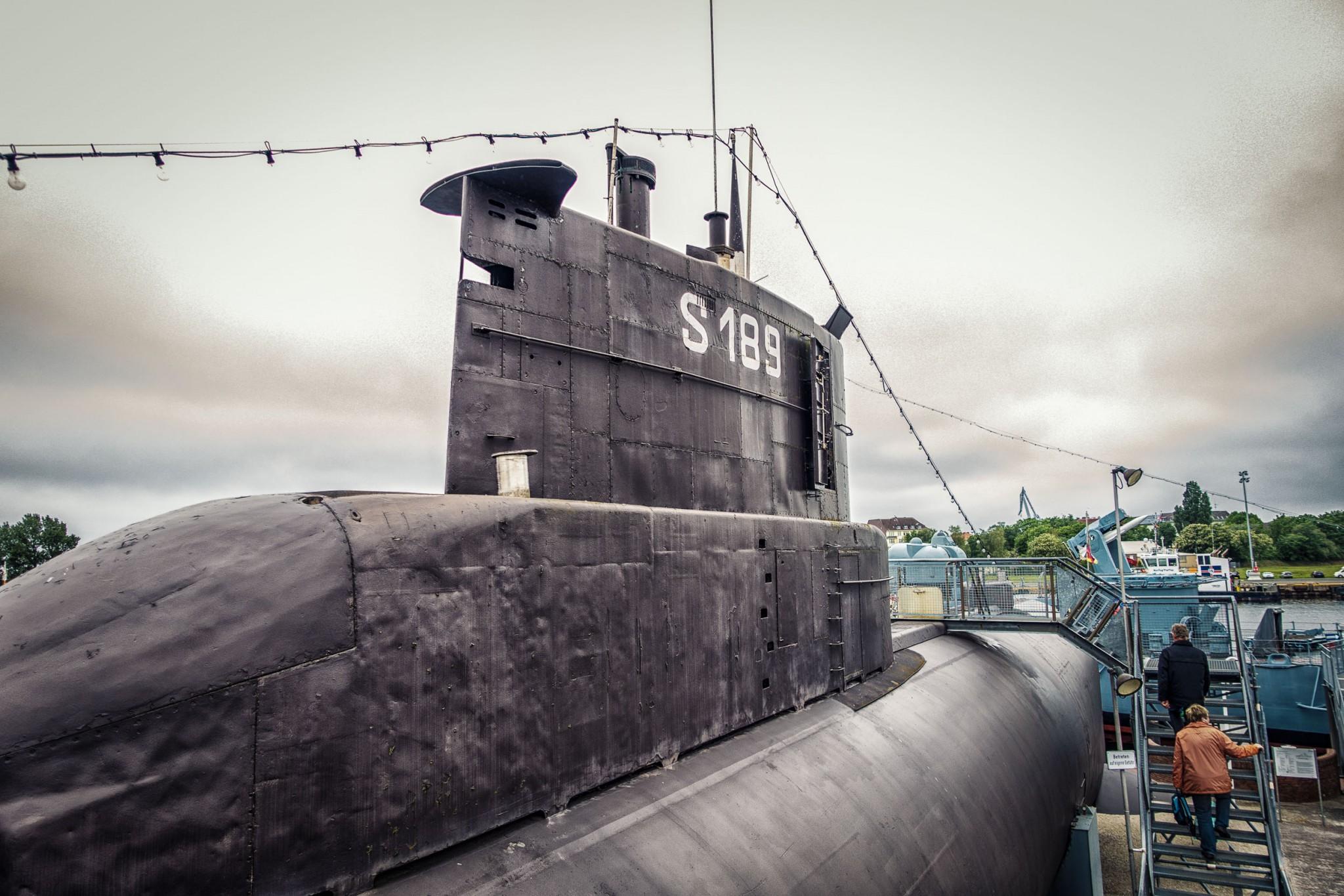 """Das U-Boot """"U10"""", welches auch von innen besichtig werden kann"""