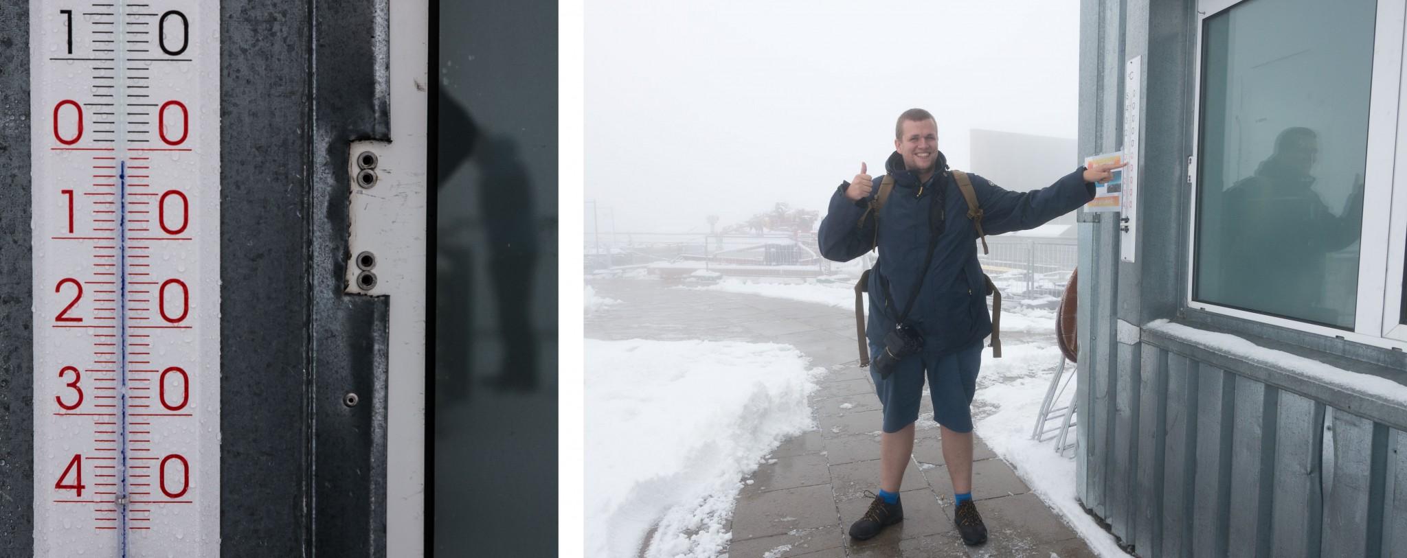 Das falsche Outfit auf der Zugspitze