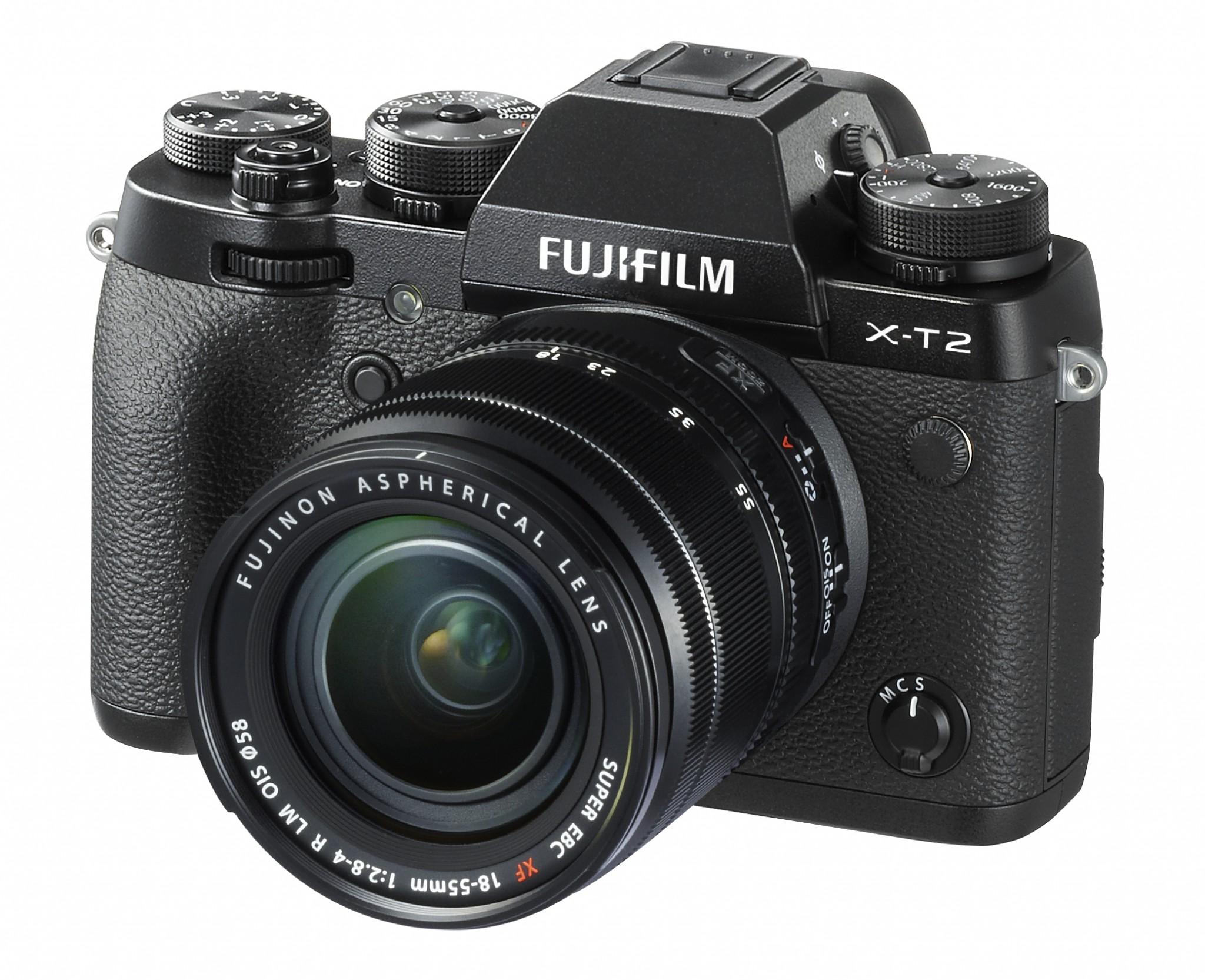 FUJIFILM X-T2 mit 18-55mm Objektiv - Frontansicht